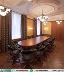 Set Meja Rapat Oval Klasik 16 Kursi AI-443