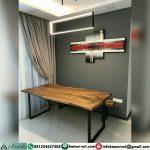 Meja Kayu Trembesi Rumah Minimalis