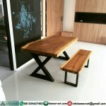 Meja Restoran Murah Kayu Suar