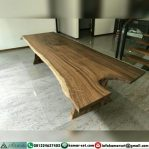 Meja Trembesi Kayu Solid Furniture Jepara