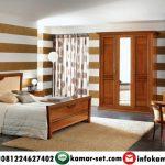 Set Kamar Tidur Minimalis Klasik Kayu Jati AI-447