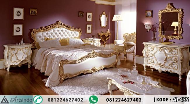 Set Tempat Tidur Gold Ukiran Mewah Racoco AI-452