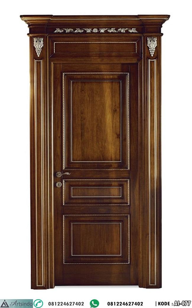 Pintu Kayu Jati Klasik Elegan