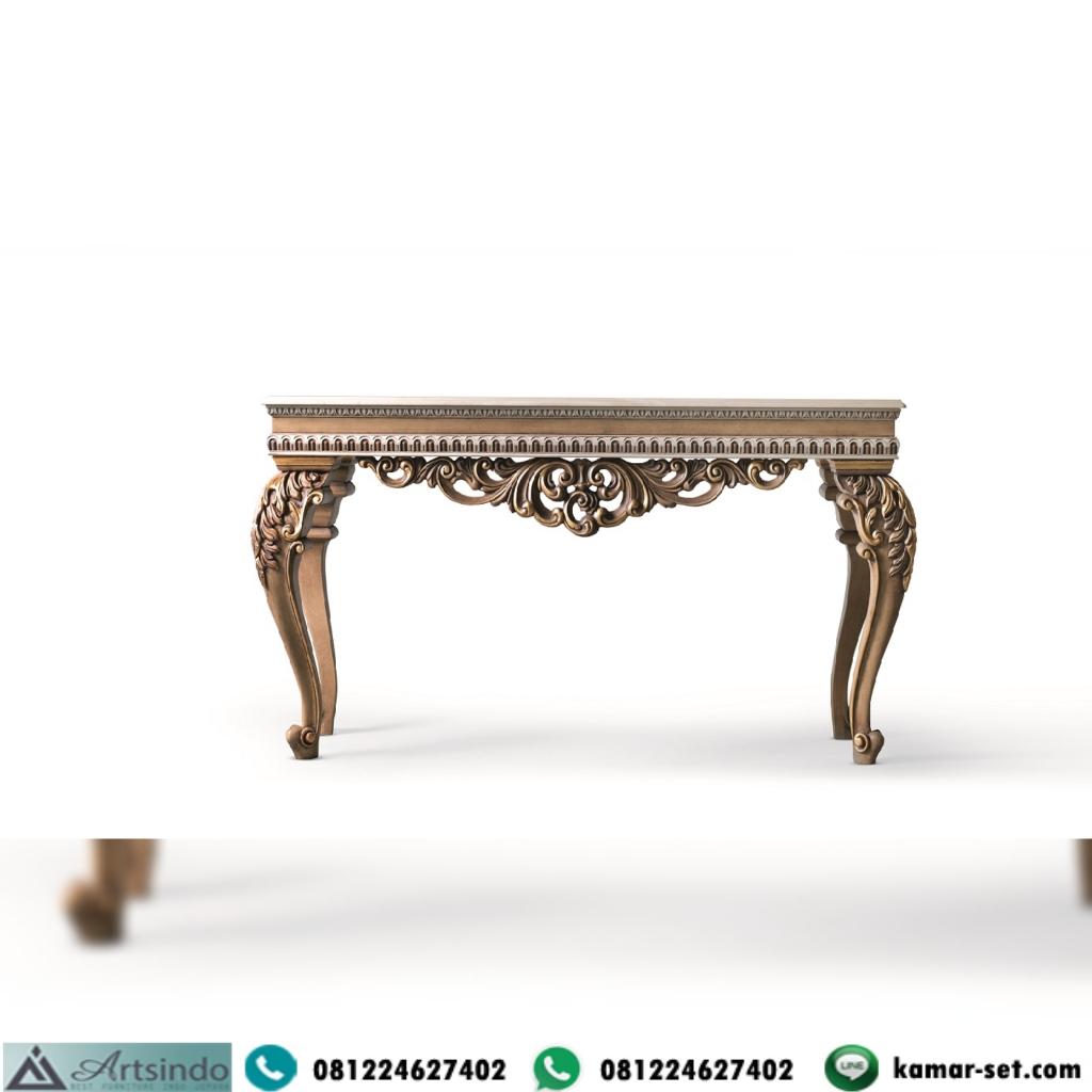 Console Table Ukir Tampak Depan