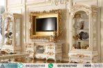 Set Bufet Tv Ukir Mewah Klasik Gold AI-488