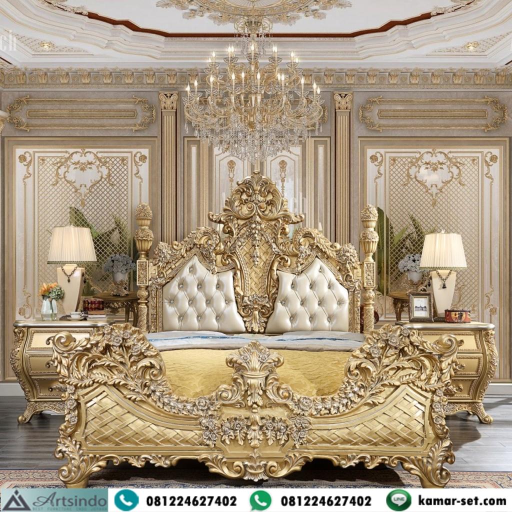 Tempat Tidur Pengantin Klasik Gold