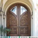 Model Pintu Kupu Tarung Lengkung Ukiran Klasik Kayu Jati Jepara