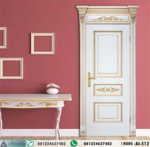 Pintu Kamar Mewah Ukir Klasik Gold AI-513