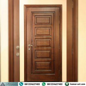 Pintu Kamar Minimalis Kayu Jati Model Panil Klasik Modern