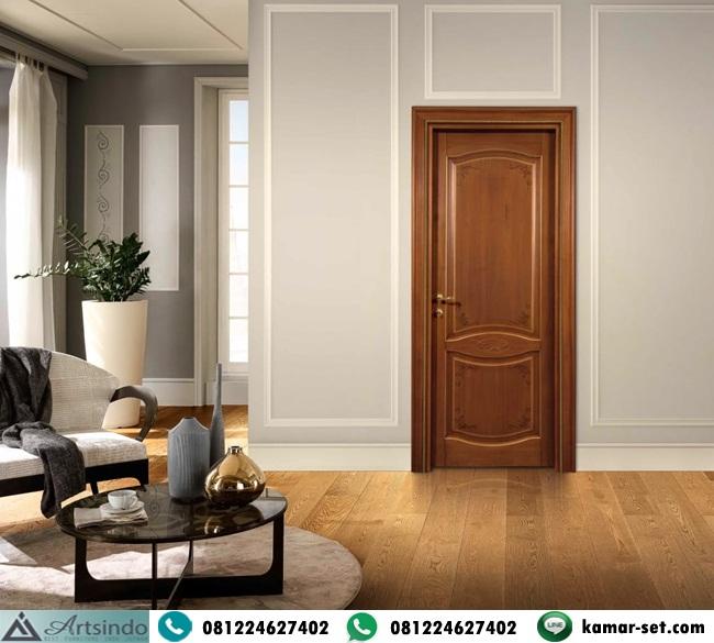 Pintu Kamar Kayu Jati Model Simple