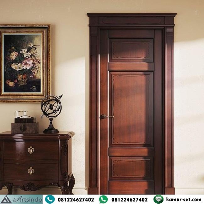 Pintu Kamar Klasik Kayu Jati Architrave