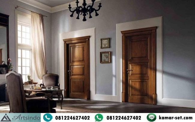 Pintu Kayu Jati Jepara Klasik Minimalis 3 Panil